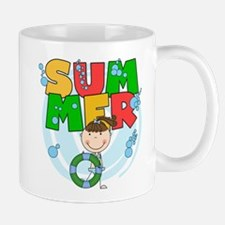 Brunette Girl SUMMER Mug