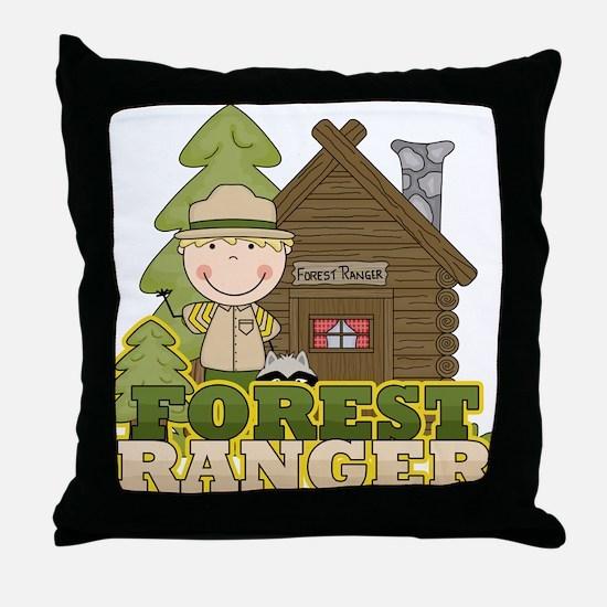 Male Forest Ranger Throw Pillow