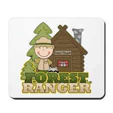 Male Forest Ranger Mousepad