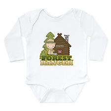 Male Forest Ranger Long Sleeve Infant Bodysuit