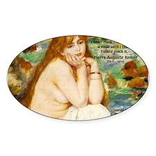 Renoir Impressionist Nude Oval Decal