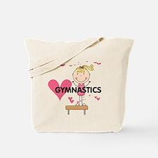Blond Girl Gymnast Tote Bag