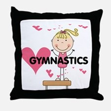 Blond Girl Gymnast Throw Pillow