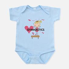 Blond Girl Gymnast Infant Bodysuit