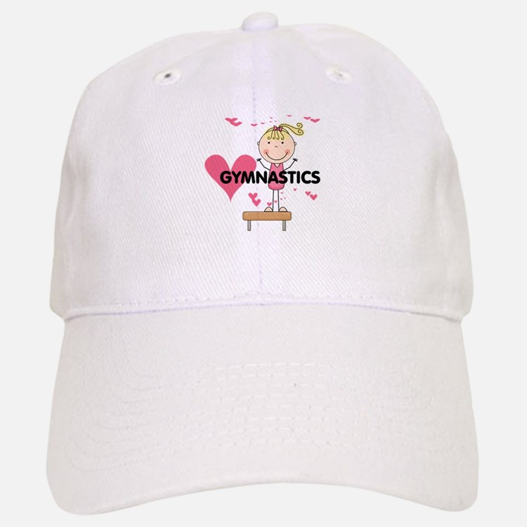Blond Girl Gymnast Baseball Baseball Cap