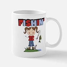 Stick Figure Girl Fishin' Mug