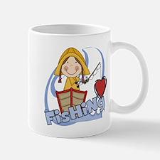 Girl Loves Fishing Mug