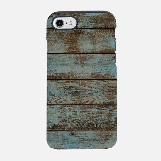 rustic western turquoise barn iPhone 7 Tough Case
