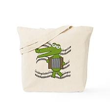 Crocodile With Accordion Tote Bag