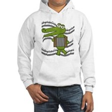 Crocodile With Accordion Hoodie