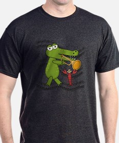 Crocodile With Trumpet T-Shirt