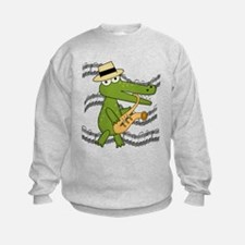 Crocodile With Saxophone Sweatshirt