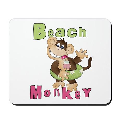 Green Beach Monkey Mousepad