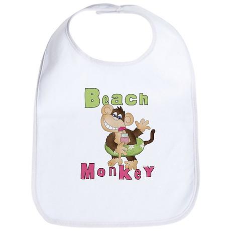 Green Beach Monkey Bib