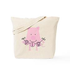 Cartoon Pig Tote Bag