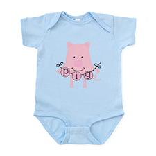 Cartoon Pig Infant Bodysuit