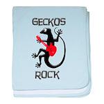 Geckos Rock baby blanket