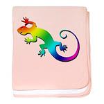Rainbow Gecko baby blanket