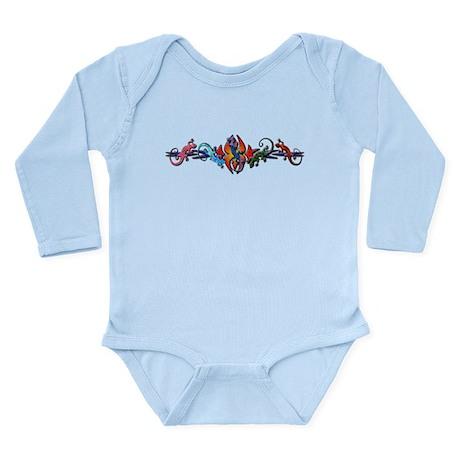 Gecko Banner Long Sleeve Infant Bodysuit
