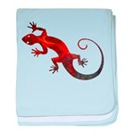 Fire Red Gecko baby blanket
