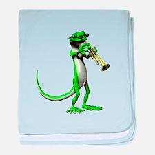 Blues Trumpet Gecko baby blanket