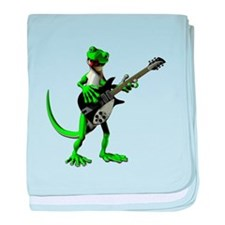 Electric Guitar Gecko baby blanket