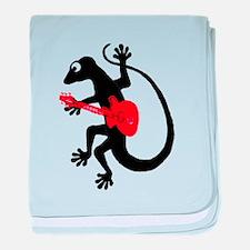 Gecko Guitar baby blanket