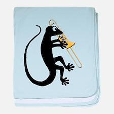 Gecko Trombone baby blanket
