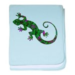 Ivy Green Gecko baby blanket