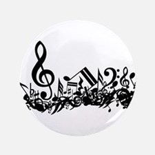 """Mixed Musical Notes (black) 3.5"""" Button (100 pack)"""