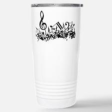Mixed Musical Notes (black) Travel Mug