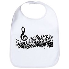 Mixed Musical Notes (black) Bib