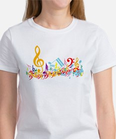 Colorful musical notes Women's T-Shirt