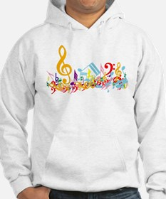 Colorful musical notes Hoodie