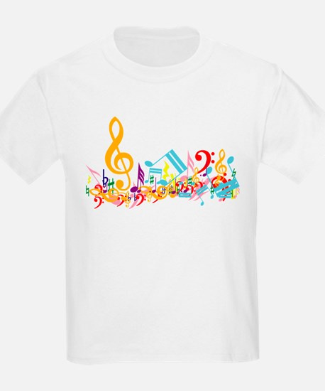 Colorful musical notes T-Shirt