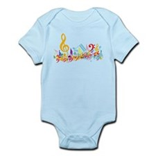 Colorful musical notes Infant Bodysuit
