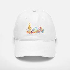 Colorful musical notes Baseball Baseball Cap