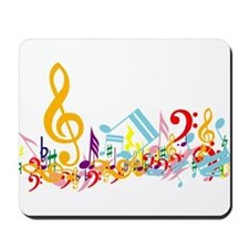 Colorful musical notes Mousepad