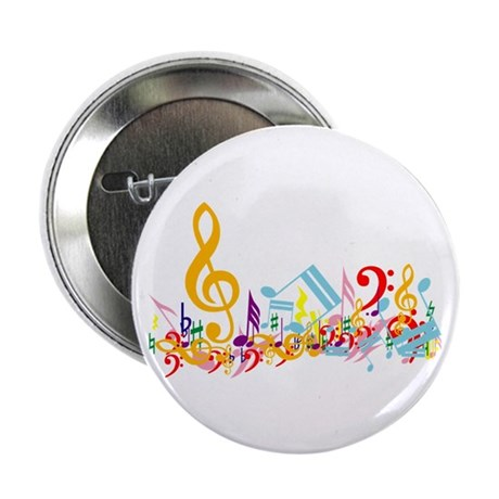 """Colorful musical notes 2.25"""" Button (100 pack)"""