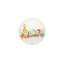 Colorful musical notes Mini Button (10 pack)