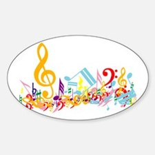 Colorful musical notes Decal