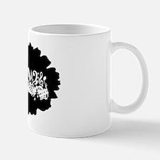 Black Musical notes splat Mug