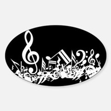 Black Musical notes splat Decal