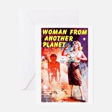 Woman From Another Planet Greeting Card