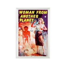 Woman From Another Planet Rectangle Magnet