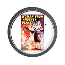 Woman From Another Planet Wall Clock