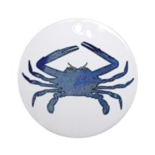 Blue Crab Ornament (Round)