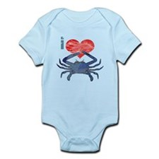 I Love Crab Infant Bodysuit