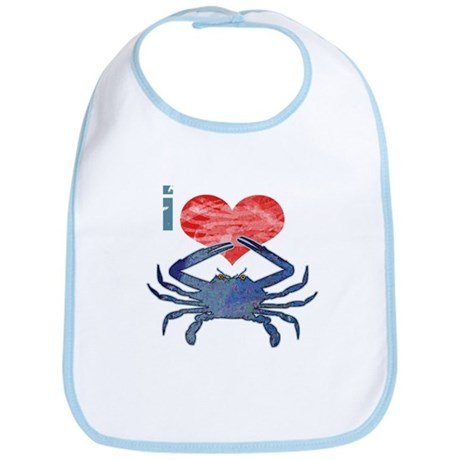 I Love Crab Bib