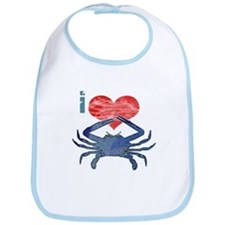 I Love Crab Bib